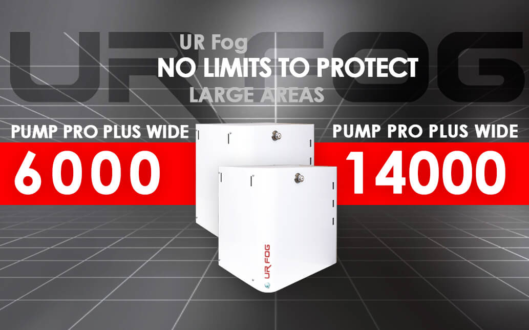 Anti-intrusion security fogging systems for wide enviroments - UR Fog